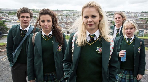 Derry Girls is nominated for Best Scripted Comedy at the Royal Television Society Programme Awards, with star Saoirse-Monica Jackson (front of photo) shortlisted for Best Comedy Performance (Female)