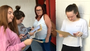 Students receive their results at Pobalscoil Neasáin in Baldoyle, Co Dublin