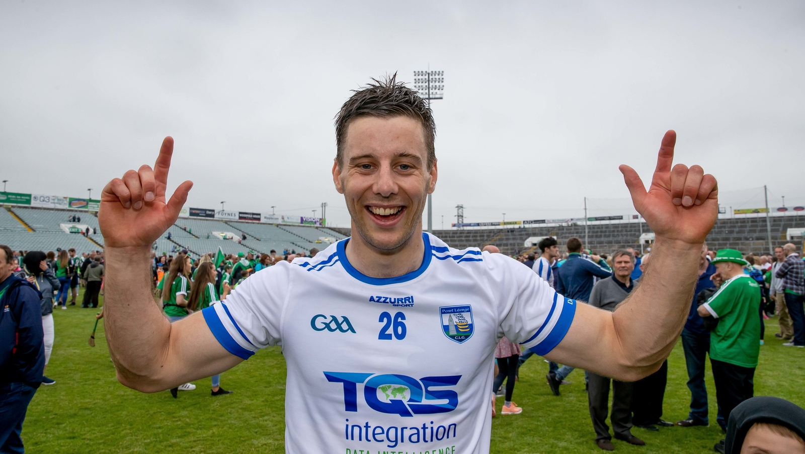 Image - Dan Morrissey celebrates the Munster round-robin win over Waterford