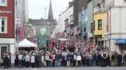 The service was held in Market Street in Omagh where the bomb  went off