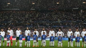 Ireland were beaten 2-0 by France before the World Cup