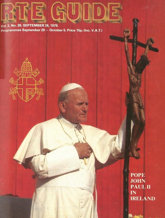 RTÉ Guide Pope Cover 28 September 1979