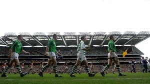 The Limerick team parade before the All-Ireland final in 2007