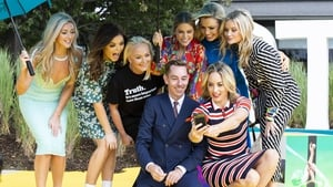 Ryan Tubridy is pictured with Jenny Dixon, Doireann Garrihy, Dr Eav Orsmond, Amy Huberman, Anna Geary, Laura Whitmore and Kathryn Thomas