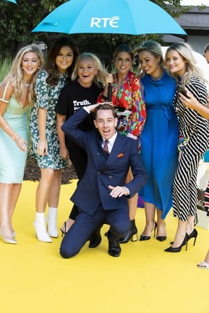 Ryan Tubridy is pictured with Jenny Dixon, Doireann Garrihy, Dr Eav Orsmond, Amy Huberman, Anna Geary and Laura Whitmore