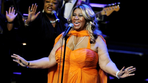 Aretha Franklin performing in 2012