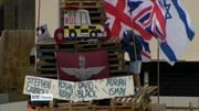 Six One News (Web): Families of murdered police and prison officers condemn Derry bonfire incident