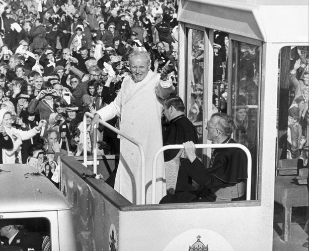 Pope John Paul drew huge crowds to the Phoenix Park