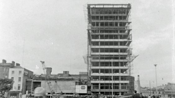 Liberty Hall under construction in 1963