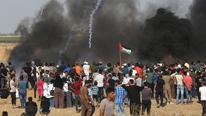 Israel said its troops had opened fire but did not know of any deaths