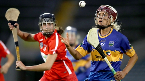 Cork's Orla Cotter and Orla O'Dwyer of Tipperary have theri eyes on the ball