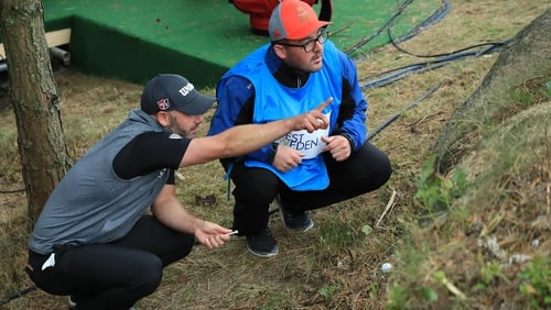 Waring was wayward on the final hole of his third round