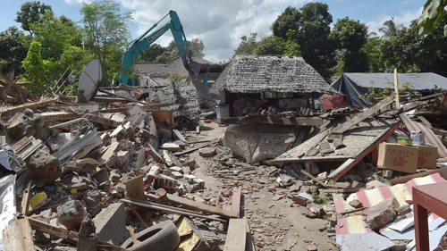 The fresh earthquakes come as the island attempts to recover from a strong quake in early August that left hundreds dead (file pic)