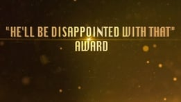 """""""He'll be disappointed with that"""" award   The Sunday Game"""