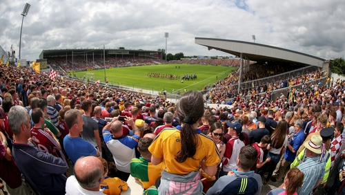 A packed house watches the All-Ireland semi-final replay between Clare and Galway in Thurles