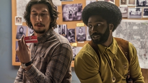 Driver and Washington in BlacKkKlansman