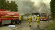 One News (Web): Major fire at recycling centre in Rathcoole in Dublin