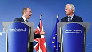 Dominic Raab and Michel Barnier met in Brussels