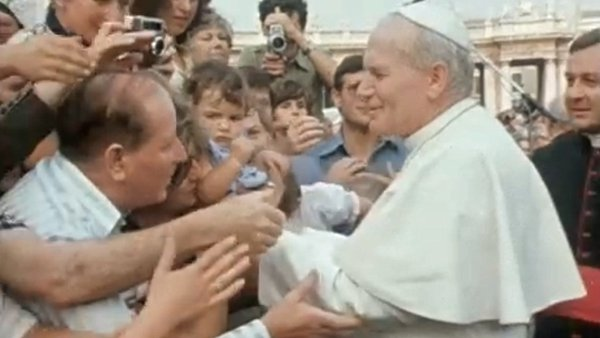 Ahead of the Pope's visit to Ireland, Derek Davis pays a visit to the Vatican to see Pope John Paul II meet his followers.
