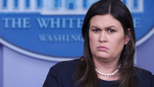 Sarah Sanders said merely that Washington