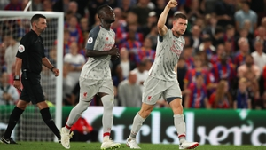 James Milner celebrates his goal against Crystal Palace