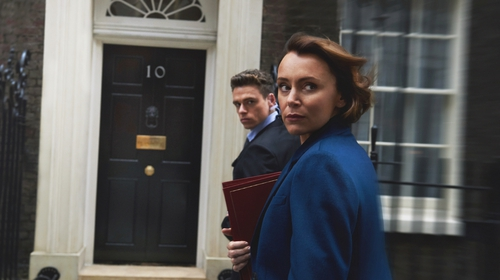 Richard Madden and Keeley Hawes in the BBC drama Bodyguard