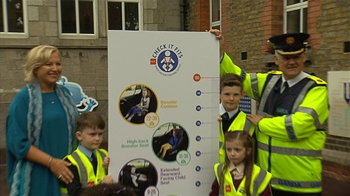 The RSA's 'Seatbelt Safety' message was launched in Dublin today