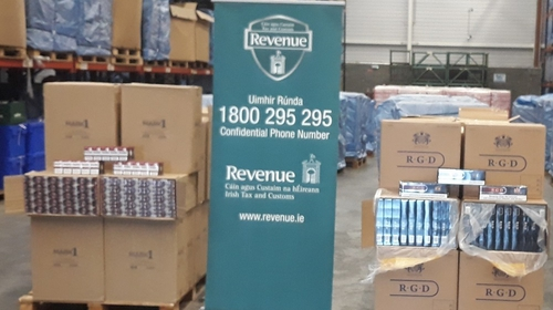 67 million illicit cigarettes and 2,000kgs of smoking tobacco were seized by Revenue last year