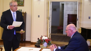 Scott Morrison takes the oath of office as he becomes Australia's 6th PM in less than 10 years