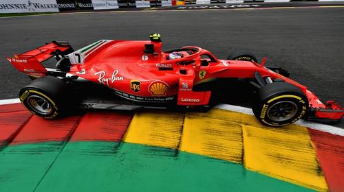 Kimi Raikkonen set the best time in the Belgian practice