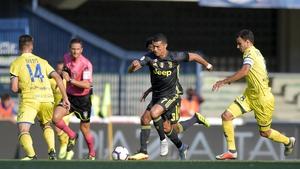 Cristiano Ronaldo made his Juventus debut in a 3-2 win over Chievo last Saturday