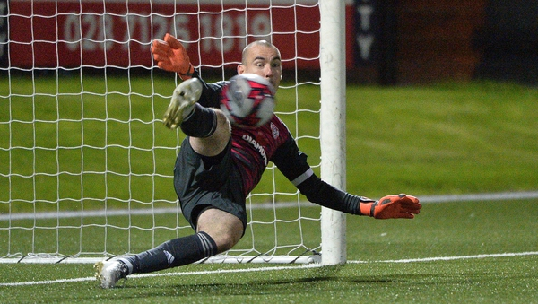 Gerard Doherty saves from Ian Turner
