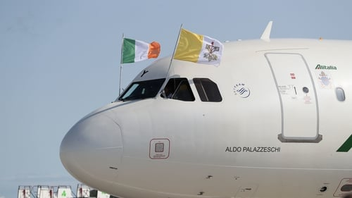 Pope Francis has arrived in Ireland for his two-day visit