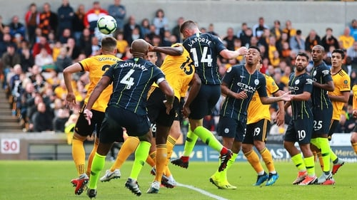 Manchester City came from behind to draw with Wolves
