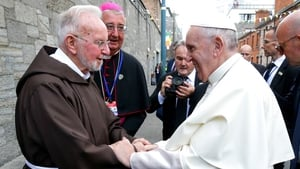 Pope Francis pictured with Brother Kevin Crowley