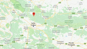 The accident happened when the coach ran off the road and overturned near the town of Svoge (Pic: Google Maps)