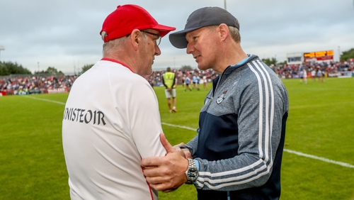 Mickey Harte (l) and Jim Gavin will pit their sides against each other next Sunday