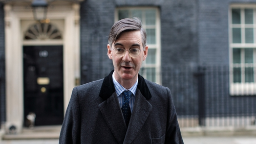 "Jacob Rees-Mogg said the UK could keep ""a very close eye"" on the Northern Ireland border"
