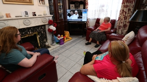 The Dalton and Hutchins in Dublin watch Pope Francis on RTÉ News Now