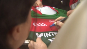 Pope Francis signed the jersey before he left Knock
