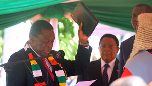 Emmerson Mnangagwa took the oath before Chief Justice Luke Malaba