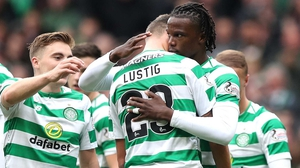 Dedryck Boyata is swamped by team-mates after his decisive goal