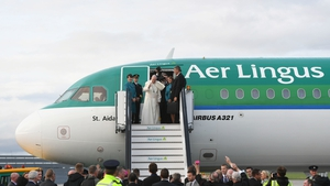 The Pope left Dublin Airport on board an Aer Lingus aircraft shortly before 7pm