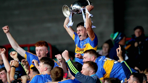 Tipperary's Colin English lifts the trophy
