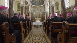 Before departing Dublin for his flight home, the Pope held a short meeting with a number of Irish bishops