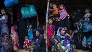 Around 70,000 Rohingya Muslim have fled the northern Rakhine state to Bangladesh