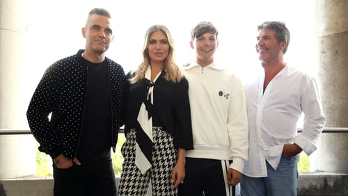 "Simon Cowell - ""What I love about Louis, Robbie and Ayda is that they are all fans of the show in their own way."""