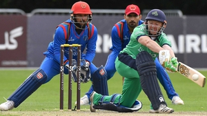 Ireland's Niall O'Brien in action against Afghanistan