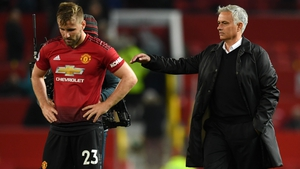 Jose Mourinho offers support to Luke Shaw following the 3-0 defeat to Tottenham