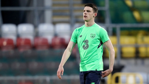 Declan Rice played three senior internationals for Ireland